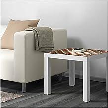 Mesa Ikea Lack Personalizada Tablero Ajedrez antiguo imitación madera Vinilo auto adhesivo | Medidas 0,