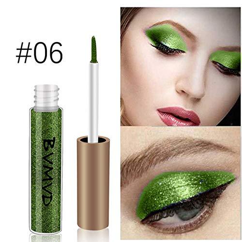 Liquid Eyeliner,gaddrt Metallic Smokey Lidschatten Wasserdicht Glitter Liquid Eyeliner ()