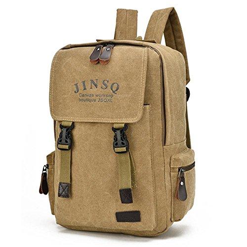 Beiläufige Unisexsegeltuchrucksack Retro-Mode-Business-Computer Tasche Rucksack 1