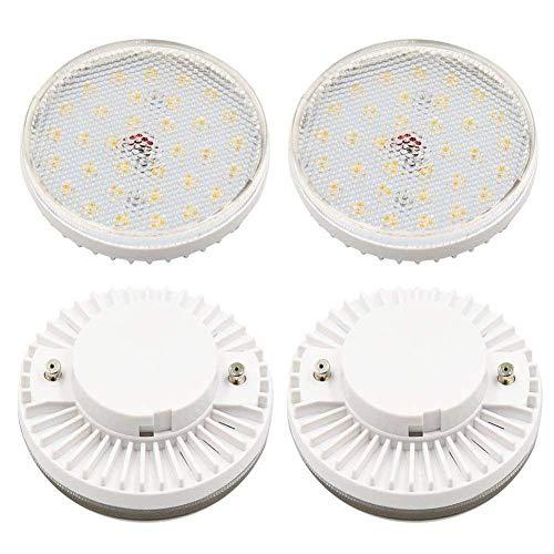 GX53 Langlebig Treppe Lampe Blendung Rund Schrank LED Glühbirne Transparent Cover Taschenlampe - tageslichtweiß, Free Size -