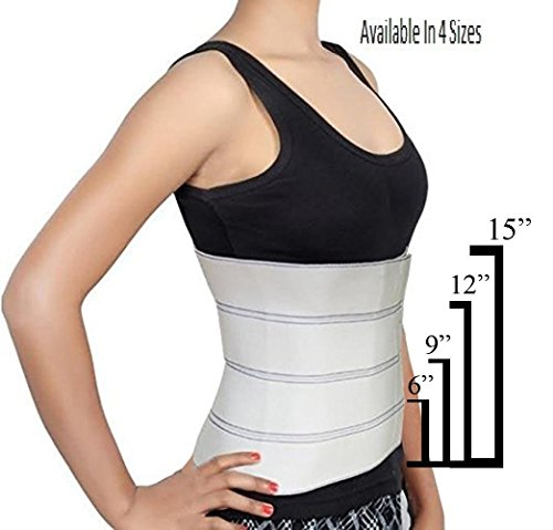 Preisvergleich Produktbild Abdominal Binder Support Post-Operative,  Post Pregnancy And Abdominal Injuries. Post-Surgical Abdominal Binder Comfort Belly Binder by Trademark Supplies