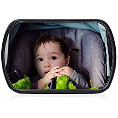 Idea Regalo - CARTO Specchietto retrovisore per seggiolini, girevole, 16,8 x 10,5 cm, facile da montare, per una piacevole sensazione di completa sicurezza - con 2 anni di garanzia soddisfatti o rimborsati