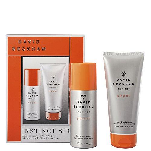 Instinct Deodorant 150ml. + Duschgel 200ml von David Beckham, Schatulle Herren -