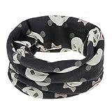 Kinder Loopschal Loop Schlauchschal Tuch mit Panda Muster Baumwolle Rundschal Halstücher Winter Schal für 0-12 Monaten Baby Mädchen Jungen, Schwarz-panda, Einheitsgröße