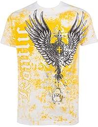 Sakkas Große Wächter metallischen geprägte Männer-Mode-T-Shirt