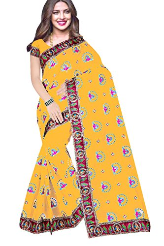 Onlinehub Women's Sarees Cotton Silk Material Sarees For Women With 1 Blouse...