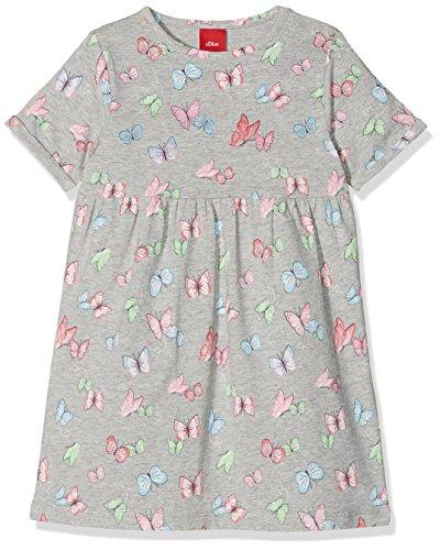 s.Oliver Baby-Mädchen Kleid 59.806.82.2821, Grau (Grey AOP 94a2), 80