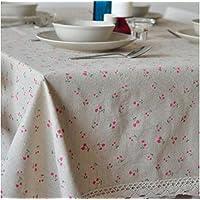 MEICHEN-Piccolo giardino fiorito lino e cotone tovaglia tovaglia home coperchio