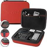 mtb more energy® Estuche (XL, Rojo) para Sony FDR-X1000V / HDR-AZ1, AS15, AS20, AS30V, AS50, AS100V, AS200V - Bolsa Funda Sistema modular