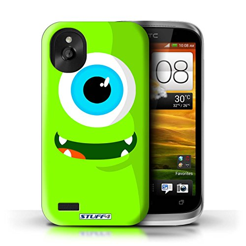 Kobalt® Imprimé Etui / Coque pour HTC Desire X / Vert conception / Série Monstres Vert