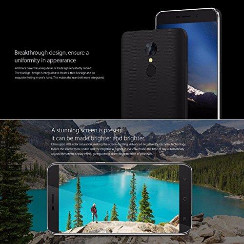 Smartphone libre Blackview A10 con cuerpo   nico de metal  de  5  pulgadas  Android 7 0  3G  Quad Core 1 3  GHz  2  GB   16  GB  5  MP   8  MP  huella