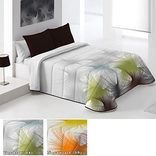 Edredón Conforter Modelo Lavanda, Color VERDE (C/04), Medida Cama de 105 · 200x260cm