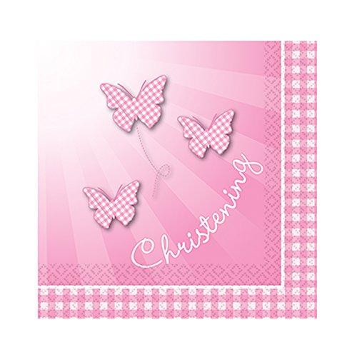 Taufe Pink Booties, 16 Servietten
