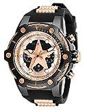 Invicta Marvel Herren-Armbanduhr Armband Silikon Gehäuse Edelstahl Quarz 26904