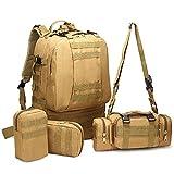XBTECH Mochila táctica Militar Mochilas pequeñas Bolsa de Senderismo Trekking al Aire Libre Camping Tactical Molle Army Combat Tiene un diseño de múltiples Bolsillos