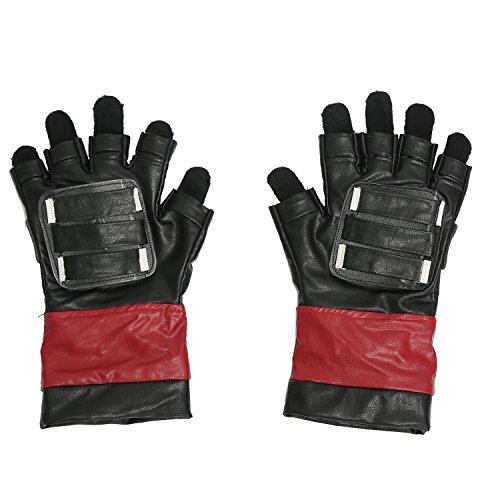 dschuhe Männer Erwachsener Leder Fingerless Wolle Fingerhandschuhe Kostüm Verrücktes Kleid ()