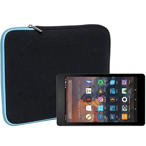 Slabo Tablet Tasche Schutzhülle für Amazon Fire HD 8-Tablet Hülle Etui Case Phablet aus Neopren – TÜRKIS/SCHWARZ