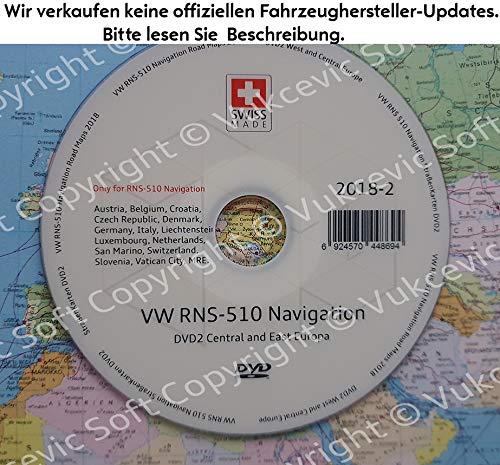 VW RNS 510 Navigation Strassenkarten DVD 2018-2