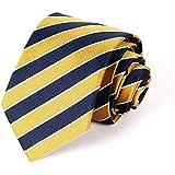 Sunbo Men Stripe Classic Business Necktie Party Wedding Stain Neck Tie Gold