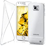 OneFlow Protective cover for Samsung Galaxy S2 / S2 Plus silicone cover case made from 0.7 mm TPU   Cover accessory to protect your mobile phone   See-through transparent bumper case in CRYSTAL-CLEAR
