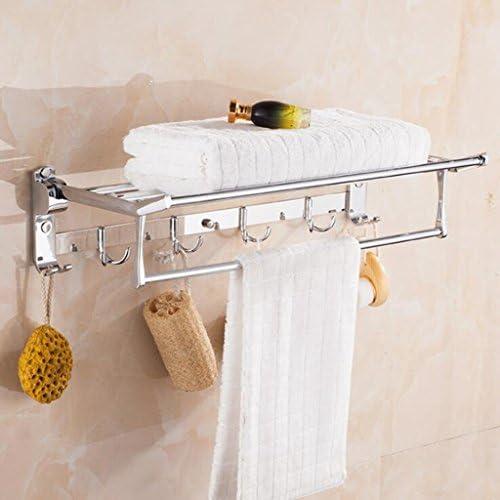 Dixinla attività Porta asciugamani Portasalviette in acciaio inox pieghevole attività Dixinla bagno asciugamani bagno doppio ciondolo 2ce825