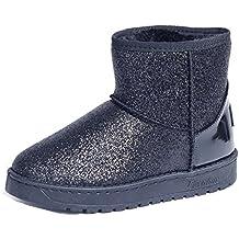 AgeeMi Shoes Donna Plateau Scarpe Slip On Tacco Basso Neve Stivali