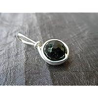 Filigraner Kettenanhänger Edelstein schwarzer Turmalin (Schörl) - hochwertige und haltbare Versilberung