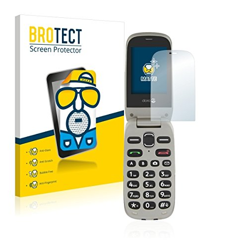 2X BROTECT Matt Bildschirmschutz Schutzfolie für Doro PhoneEasy 632 (matt - entspiegelt, Kratzfest, schmutzabweisend)