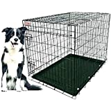 Perfect Choice High Quality Metal Dog Cage 36 Inches Single Door In Blue Or Black Colour