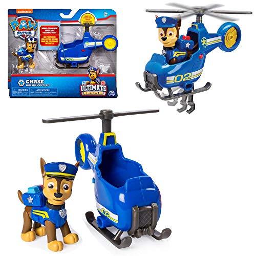 Ultimate Rescue   Mini Fahrzeuge mit beweglicher Spiel-Figur   Paw Patrol, Figur:Chase Polizei Hubschrauber