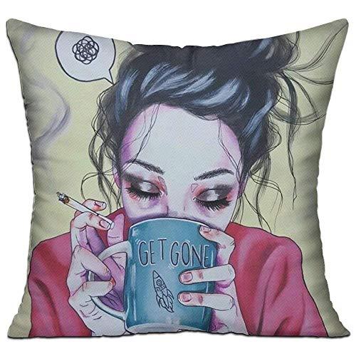 Proud Clothing Multi-Sized Pillow Case Goth Gotik Gothic Boring Women Girl Art Cushion Cover...