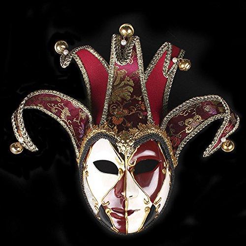 Ball Masquerade Perücken (K&C Joker Maske Vintage Venedig Halloween Kostüm Masquerade Masken)