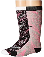 Nike 2PPK GIRL'S GRAPHIC CTN KNEE H - Chaussettes Fille, Rouge, S