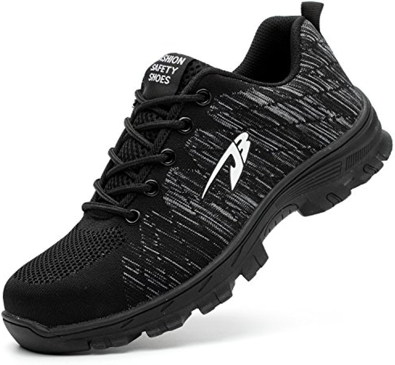 COOU Zapatillas de Seguridad para Hombre Ligeras S3 Calzado de Trabajo para Comodas
