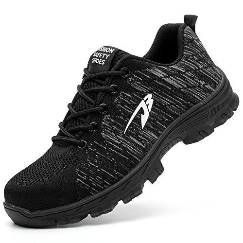 COOU Zapatillas de Seguridad para Hombre Ligeras S3 Calzado de Trabajo para  Comodas (40 EU 35a021510add