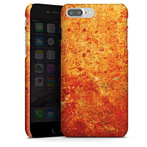Apple iPhone X Silikon Hülle Case Schutzhülle Rost Struktur Look Premium Case glänzend