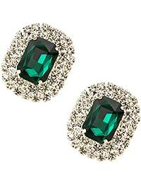 Tooky - Juego de dos broches de gemas y cristales para zapatos, extraíbles