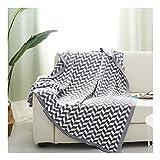 La couverture de jet tricotée par doux, couverture de déjeuner de pause couverture de ressort de couverture de laine douce de couverture de ressort peut être utilisée en tant que couverture de dames e