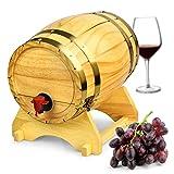 In legno botte di vino dispenser pino naturale 5litri–stile vintage tavolo vino dispenser