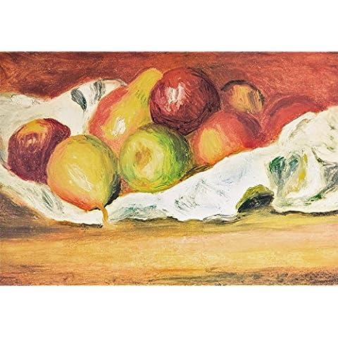Pierre Auguste Renoir - Mele E Pere, 1889, 3 Parti Fotomurale Carta Da Parati Autoadesiva (360 x