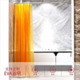 QSZS Duschvorhang EVA Transluzent 3D Dreidimensionales Raster Duschvorhang Badezimmer Vorhang Schimmel Wasserdicht Duschvorhang,C,180*180CM
