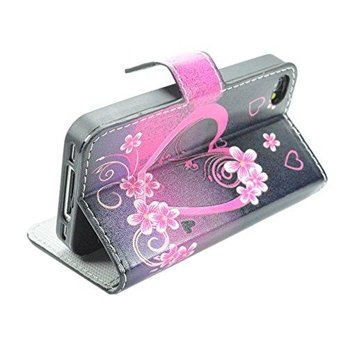 HUANGTAOLI Protettiva Flip Case Cover per Apple iPhone 4 4S 4G C26