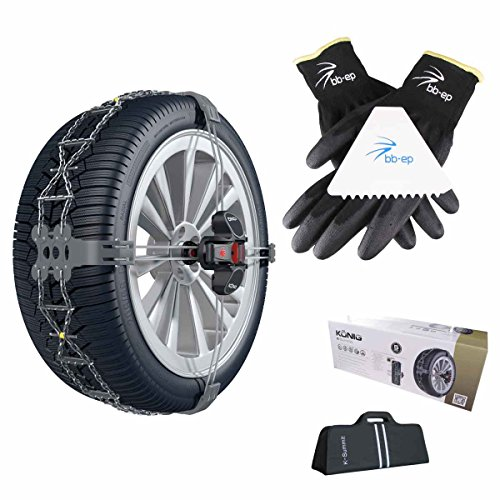 Re | thule catena da neve k della summit – l' esclusiva, semplice e pulito soluzione – omologate per chrysler 300 c touring sedan | con il pneumatico misura 215/60 r16 michelin primacy energy saver nel set con alta qualità bb di ep guanti