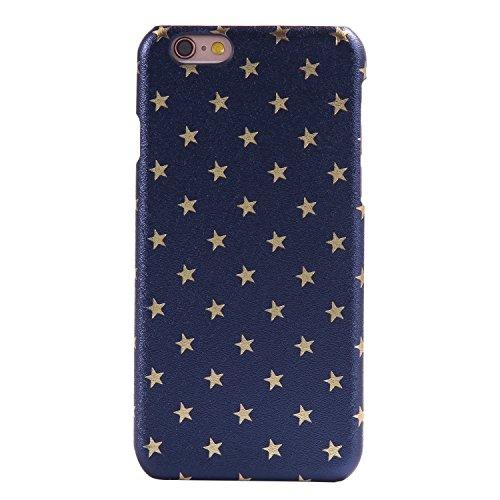 per Apple iPhone 6 Plus/ 6S Plus Custodia Cover,Herzzer Mode Creativo Elegante Star Hard PC Rosa Stelle Bumper caso,Protettiva 360 Gradi Anti-Scratch Case cover per iPhone 6 Plus/ 6S Plus + 1 x Gratui Blu