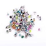 GLOGLOW 500 Stücke Mischfarben 3mm Runde Form Ösen, Scrapbooking Karte, Leder Handwerk Schuhe Kleidung DIY Metall Ösen