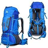 Verus Zaino da Escursionismo, Trekking Zaino Zaino Outdoor Impermeabile Mountain Top da Campeggio per Arrampicata, Uomo, Blue, Taglia Unica