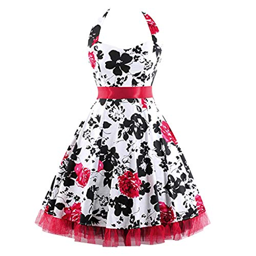 (Porlous Damen Tunika Kleid Silber Violet, Bleu, Rouge 42 Gr. M, Rot)