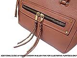 Womens Bowler Handbag with Tassel, Designer Style Faux Leather Effect Tassel Bag (red)