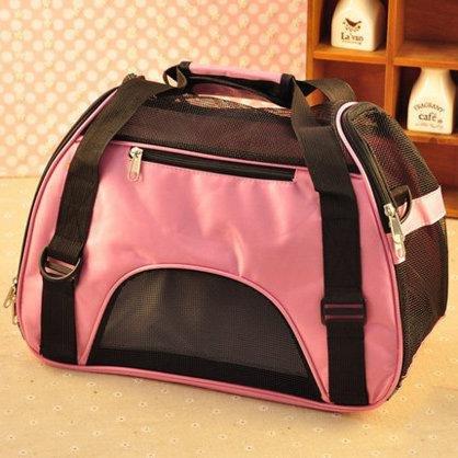 Pet - Tasche, Tasche, 2 Beutel, Tragbare Hündchen Tasche, Hund - Box, Katzenklo,Pink,S,