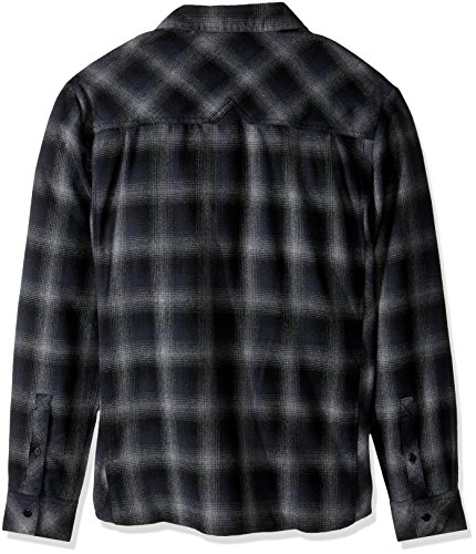 Icebreaker Herren Lodge Long Sleeve Flannel Shirt Hemd metro hthr/stealth/black